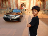 Presidential Mercedes at Humayan's Tomb in Delhi