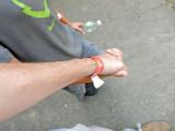 Rahil's hand