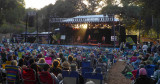 The sun gets low, as Holly Williams plays at Live Oak 2014