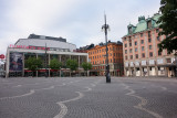 The normally busy Hötorget now empty