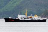 The old hurtigrute ship  Ragnvald Jarl ; now  Sjøkurs