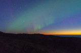 A little northern light 1 hour after sunset.