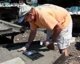 Placing a plaque