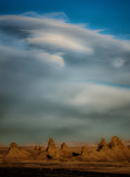 Wind Clouds and Trona Pinnacles