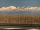 Sierra Nevada from a train near Granada