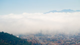 Mist over Malaga, from Monte San Cristobal