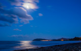 Moon over Killiney Beach