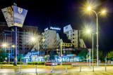 Hotel Pashtriku at night