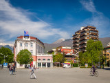 Morning in Peja's main square