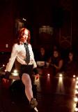 Shelbelle Shamrock does a split Ruby Revue