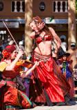Nula Luna dances Tsura fiddles RenFest 2014