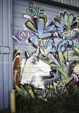 Unicorn mural on east Harrisburg
