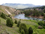 Yellowstone River on North Entrance
