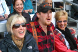 My Wife (on left) at Lumberjack Show in Alaska