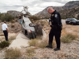 Car Wreck up on Mountain Springs Pass - October 18, 2014