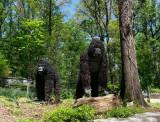 Two Orangutan(?) Topiaries at Atlanta Botanical Garden