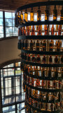Why not a beer bottle chandelier?