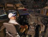 P1110236 Bill in 727 cockpit