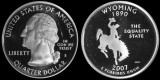 2007 S Washington Statehood Quarter - Wyoming - Proof