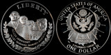 1991 S Mount Rushmore Dollar--Proof