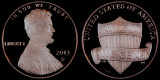 2013 S Lincoln Shield Cent -- Proof