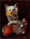 Antique Chihuahua Statue