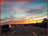 Sunset on I-70