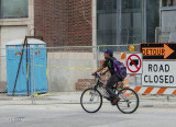 Bicycling Through Town