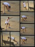 Sunset exercises before Yom Kippur 2013