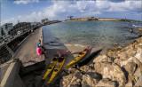 Fisheeye View of Tel Aviv Port
