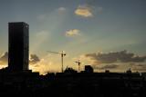 Last night's sunset silouette
