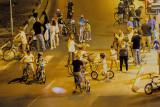 Erev Yom Kippur when children with bikes take over the city