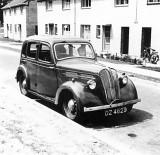 DZ4629 a 1937 Standard 10 outside 76 Shackelton Crescent NI circa 1956.