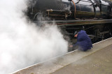 Checking the steam.