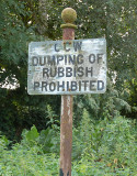 Rubbish Prohibited.