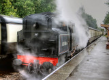 80136 at Crowcombe Heathfield on a wet day.