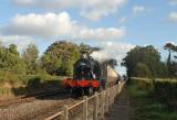 4566 arrives at Dunster having left Blue Anchor bound for Minehead.