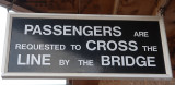 Sign on the new bridge at Williton.