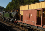 4131 shunting  the goods wagons at Minehead.