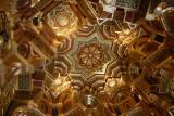 Ornate ceiling.