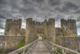 Rear entrance to Caerphilly Castle.