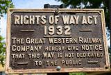 Rights of Way Act.