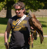 Handler with Red Kite.