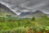 Glencoe from the visitors centre.