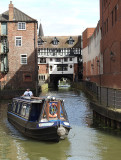Barge in Lincoln on the River Witham.