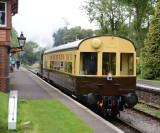 Autocoach leaving Crowcombe Heathfield with 1450 at the rear.