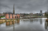 Worcester in the rain