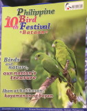 MY photo of Green Racquet-tails on the souvenir program of the 10th Philippine Bird Festival