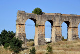 Ruins of the Roman aqueduct of Constantine, destroyed in 1185, one of the few remains from ancient times