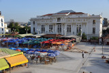 Open-air cafés behind the Palace of Justice, Constantine
